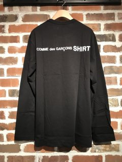 <img class='new_mark_img1' src='//img.shop-pro.jp/img/new/icons5.gif' style='border:none;display:inline;margin:0px;padding:0px;width:auto;' />【COMME des GARCONS SHIRT】COTTON JERSEY PLAIN WITH BACK CdG SHIRT LOGO L/S TEE