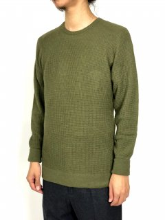 【THE INOUE BROTHERS...】Thin Waffle Knit Pullover