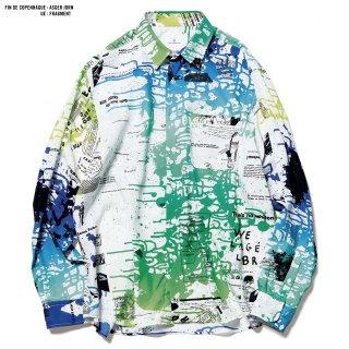 【uniform experiment】ASGER JORN : 'FIN DE COPENHAGUE' / BIG REGULAR COLLAR SHIRT