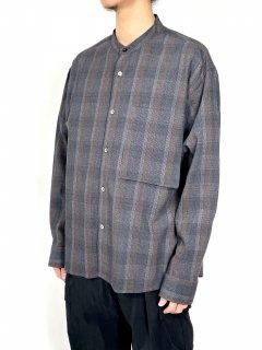 【WELLDER】Band Collar Shirt Jacket