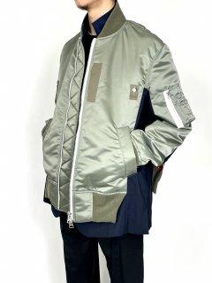 【sacai】 MA-1 × Suiting Bouson