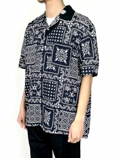 【sacai】Archive Print Mix Shirt (NAVY)