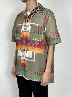 【sacai】Archive Print Mix Shirt (BEIGE)