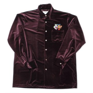 【doublet】PUPPET EMBROIDERY VELOUR SHIRTS