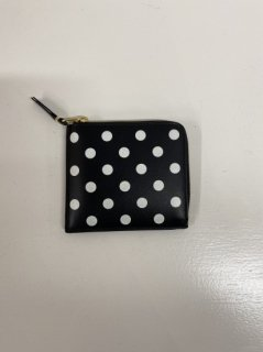 【COMME des GARCONS WALLET】DOTS PRINTED LEATHER COIN CASE