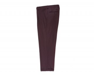 <img class='new_mark_img1' src='https://img.shop-pro.jp/img/new/icons5.gif' style='border:none;display:inline;margin:0px;padding:0px;width:auto;' />【WACKO MARIA】STRIPED PLEATED TROUSER (IMPORT FABRIC / DORMEUIL) (TYPE-1)