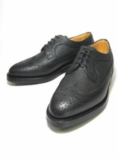 【Tricker's】BLACK SCOTCH GRAIN WINGTIP BLOGUE