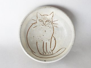 猫絵豆皿02