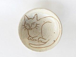 猫絵豆皿08