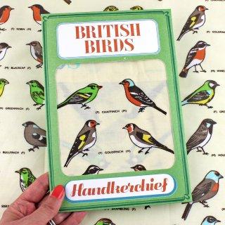 【ハンカチ/バンダナ】British Birds Handkerchief【SUKIE】