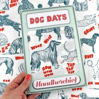 【ハンカチ/バンダナ】Dog Days Handkerchief【SUKIE】