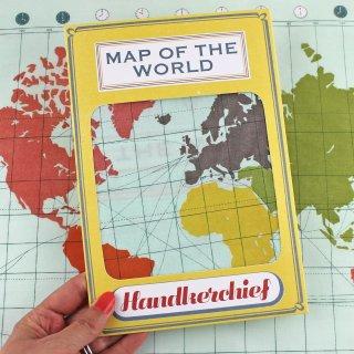 【ハンカチ/バンダナ】Map Of The World Handkerchief【SUKIE】