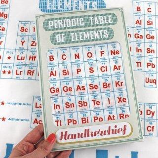 【ハンカチ/バンダナ】Periodic Table of Elements【SUKIE】