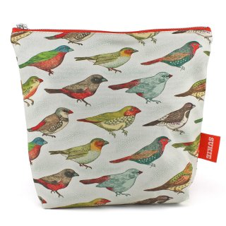 【ポーチ】 Bird Print Pouch【SUKIE】