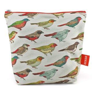 【ポーチ】 Bird Print Pouch【SUKIE】