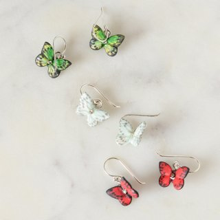 【ピアス】BUTTERFLY DROP EARRINGS【HOP SKIP & FLUTTER】