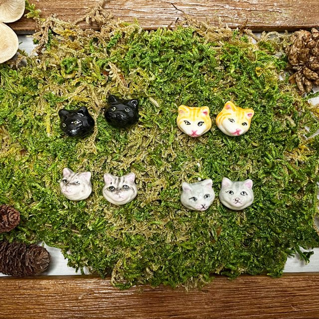 【ピアス】CAT STUD EARRINGS【HOP SKIP & FLUTTER】