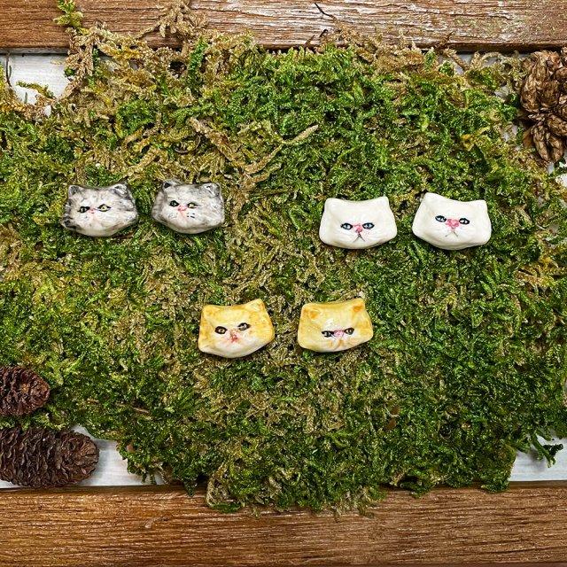 【ピアス】CAT STUD EARRINGS 長毛種 Ver.【HOP SKIP & FLUTTER】