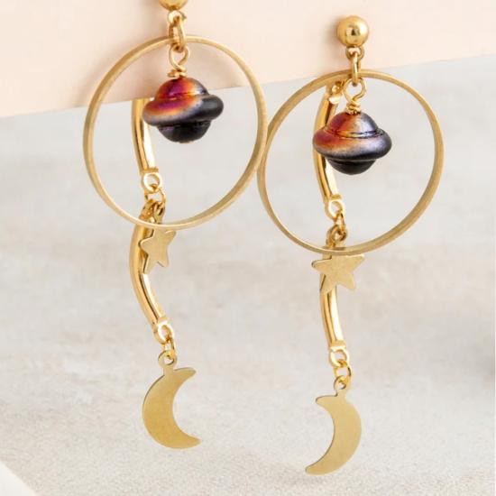 【ピアス】ORBIT Earrings【Loubijoux】