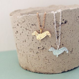 【ネックレス】SUSIE THE DACHSHUND Necklace【Loubijoux】