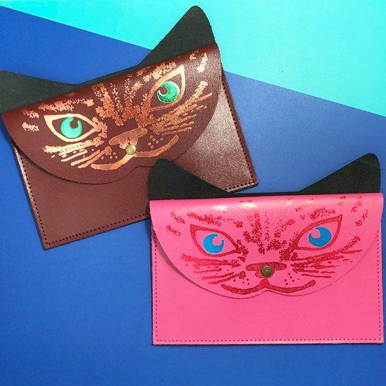 【クラッチ/パース】CAT CLUTCH/PURSE【ARK Colour Design】