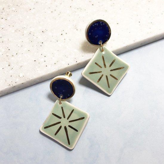 【ピアス/イヤリング】Della Double Dangle Earrings【Little Lovers Ceramics】