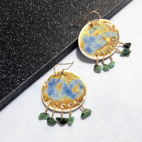 【ピアス/イヤリング】Cleo Statement Earrings【Little Lovers Ceramics】