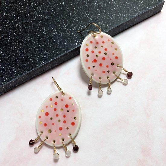 【ピアス/イヤリング】Florence Pink Earrings【Little Lovers Ceramics】