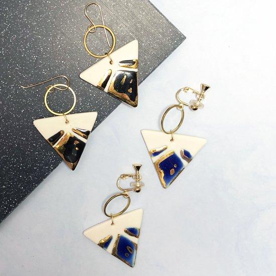 【ピアス/イヤリング】Diana Triangle Dangle Earrings【Little Lovers Ceramics】