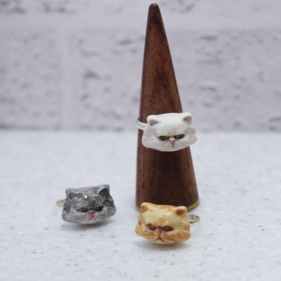 【リング】CAT RING 長毛種 ver.【HOP SKIP & FLUTTER】