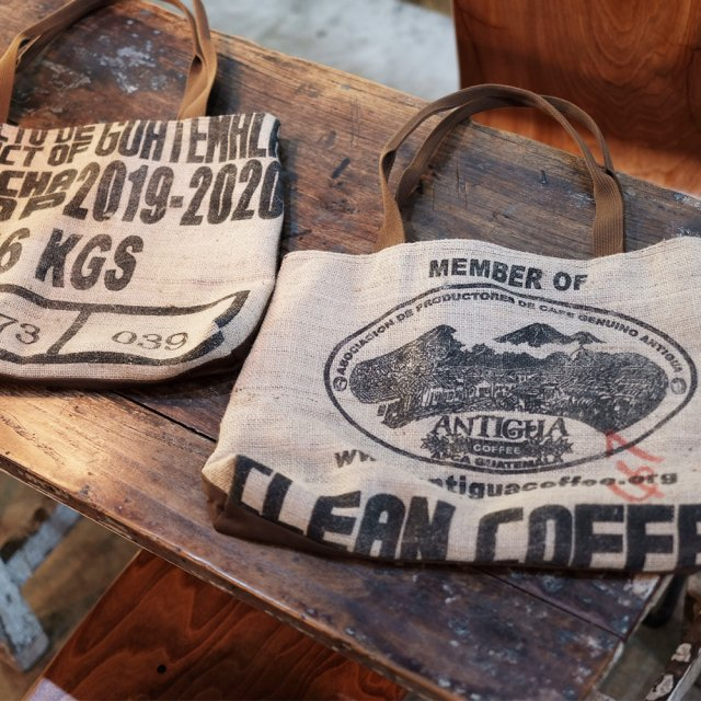 MICRO-LADY COFFEE STAND ハンドメイド麻袋トートバッグ