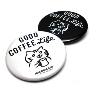 MICRO-LADY COFFEE STAND オリジナル Drip Cat 缶バッジ