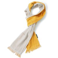 今治マフラー×WILDTHINGS / SEASON SCARF 2-TONE MUSTARD/GRY