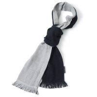 今治マフラー×WILDTHINGS / SEASON SCARF 2-TONE BLK/SILVER