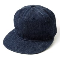EBBETS FIELD FLANNELS×WAREHOUSE / WH ORIGINAL 13.5OZ DENIM BASEBALL CAP PLAIN