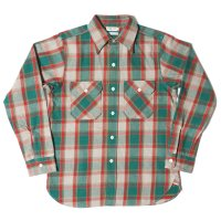 HELLER'S CAFE / HC-218-2 1940's Green Check Flannel Shirts OR