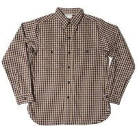 HELLER'S CAFE / HC-219-2 1940's Beige Check Flannel Shirts OR