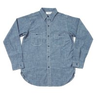 WAREHOUSE × U.S.NAVAL ACADEMY / CHAMBRAY WORK SHIRTS (無地) SAX OR