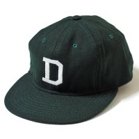 "EBBETS FIELD FLANNELS × WAREHOUSE & CO. / 1940'S VARSITY WOOL BASEBALL CAP  ""D"""