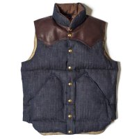 WAREHOUSE & CO. / ROCKY MOUNTAIN×WAREHOUSE & CO. INDIGO HBT DOWN VEST NON WASH