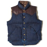 WAREHOUSE & CO. / ROCKY MOUNTAIN×WAREHOUSE & CO. INDIGO HBT DOWN VEST LONG WASH