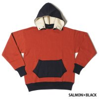 HELLER'S CAFE / HC-M153-3 1930's Chin Snap 2tone Hood Sweatshirts