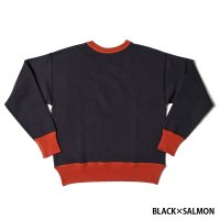HELLER'S CAFE / HC-M143-2 1930's Red-Black Combination Sweat