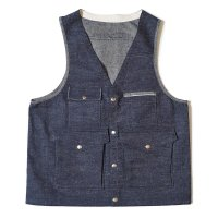 [ご予約商品] WAREHOUSE & CO. / Lot 2120 DENIM HUNTING VEST