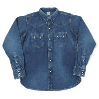 [ご予約商品] WAREHOUSE & CO. / 2ND-HAND DENIM WESTERN SHIRTS(USED WASH)
