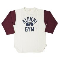 WAREHOUSE & CO. / Lot 4800 7分袖ベースボールT ALUMNI GYM