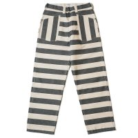 HELLER'S CAFE / HC-255 BLK & WHT PRISONER PANTS BORDER OR