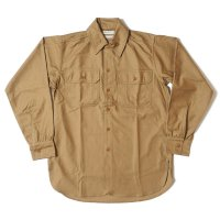 [ご予約商品] HELLER'S CAFE / HC-256 1920's Army Flap Sateen Shirts OR