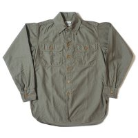[ご予約商品] HELLER'S CAFE / HC-256 1920's Army Flap Sateen Shirts O/W