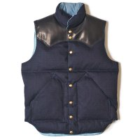 WAREHOUSE & CO. / Lot 2123 ROCKY MOUNTAIN×WAREHOUSE & CO. INDIGO RIP STOP DOWN VEST NON WASH